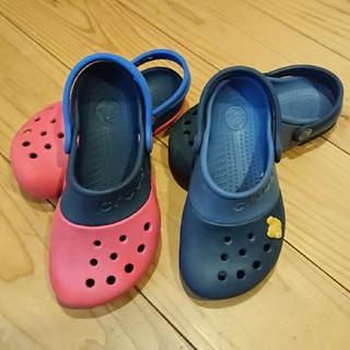 クロックス(crocs)のキッズ クロックス 2足セット 18cm 18.5cm(サンダル)