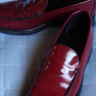 最終値引 未使用 超美品 コーチ ローファー エナメルレザー革靴