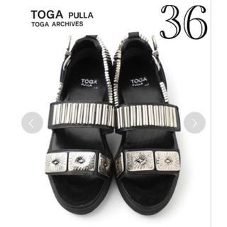 トーガ(TOGA)のTOGA PULLA(トーガプルラ) メタルスニーカー サンダル 36(サンダル)