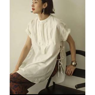 TODAYFUL - 新品未使用 TODAYFUL ハーフスリーブドレスシャツ ホワイト 白ブラウス