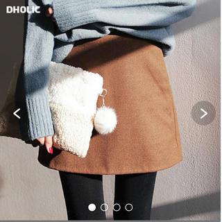 ディーホリック(dholic)のDHOLIC:ウール混Aライン台形スカート(ミニスカート)