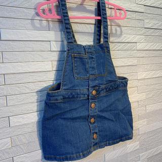 ザラキッズ(ZARA KIDS)のZARA baby  デニムジャンパースカート size 80(ワンピース)