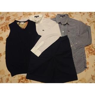 バーバリー(BURBERRY)のバーバリー 140 フォーマル パンツ&シャツ2枚&ベスト(ドレス/フォーマル)
