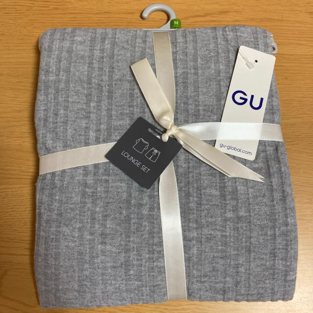 GU(ジーユー)のGU リブラウンジセット グレー レディースのルームウェア/パジャマ(ルームウェア)の商品写真