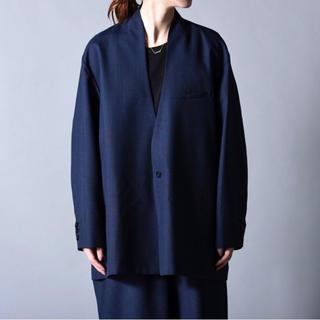 ヨウジヤマモト(Yohji Yamamoto)のka na ta  10years jacket セットアップ ネイビー(ノーカラージャケット)