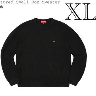 シュプリーム(Supreme)のXL  supreme  small BOX sweater 黒 値下げ不可(ニット/セーター)