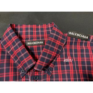 バレンシアガ(Balenciaga)の新品【 BALENCIAGA 】 Tab Shirt 38 チェックシャツ(シャツ)