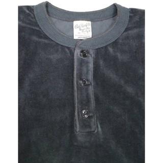 キャリー(CALEE)のキャリー ベロア長袖ヘンリーネックTシャツ(Tシャツ/カットソー(七分/長袖))