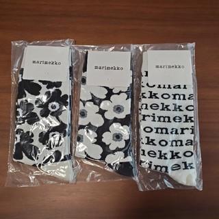 マリメッコ(marimekko)のマリメッコ靴下【3柄セット】(ソックス)
