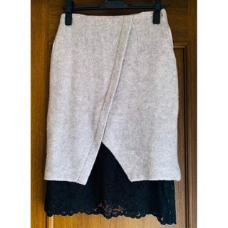 ダズリン(dazzlin)の【新品未使用】ダズリン フェルトレーススカート(ひざ丈スカート)