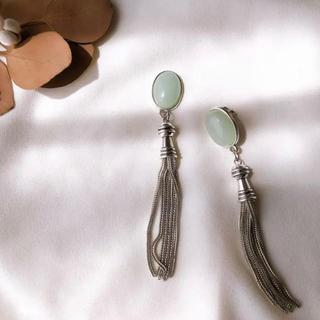 ケービーエフ(KBF)のmint silver tassel pierce/earring(イヤリング)