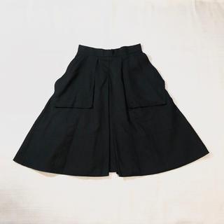 ドゥロワー(Drawer)のDrawer デザインスカート 黒 モード(ひざ丈スカート)