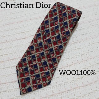 クリスチャンディオール(Christian Dior)のChristian Dior ディオール ブランド 高級 ネクタイ ウール 総柄(ネクタイ)