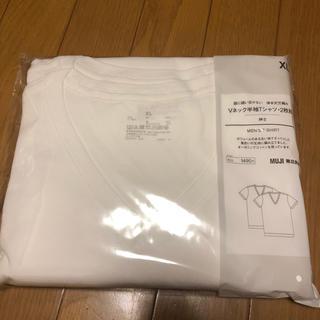 ムジルシリョウヒン(MUJI (無印良品))の新品 無印 Vネック半袖Tシャツ 2枚組(Tシャツ/カットソー(半袖/袖なし))