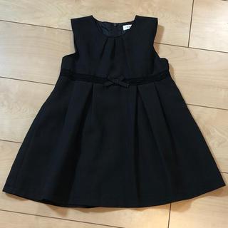 フォーマル☆黒のワンピース 90(ドレス/フォーマル)