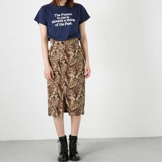 マウジー(moussy)の新品未使用 moussy 猫柄スカート(ひざ丈スカート)