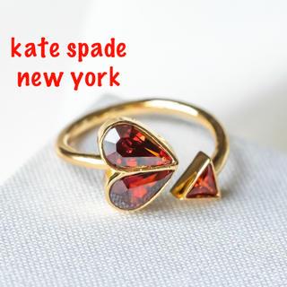 ケイトスペードニューヨーク(kate spade new york)の【新品♠︎本物】ケイトスペード ストーンハートリング RED(リング(指輪))