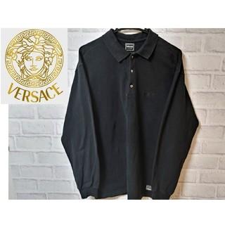 ヴェルサーチ(VERSACE)のヴェルサーチ VERSACE ポロシャツ 長袖 イタリア製 古着男子 古着女子(シャツ)
