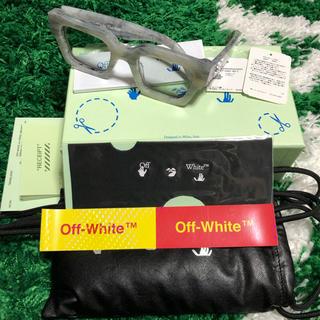オフホワイト(OFF-WHITE)のOff-White グレー アセテート サングラス 超美品 正規品 付属品完備(サングラス/メガネ)