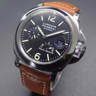 パネライ(PANERAI)の美品 D番 パネライ PAM00090 ルミノールマリーナ パワーリザーブ (腕時計(アナログ))