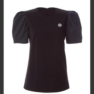 バーニーズニューヨーク(BARNEYS NEW YORK)の新品タグ付/ボーダーズアットバルコニー パフTee 36 黒(Tシャツ(半袖/袖なし))