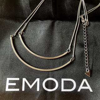 EMODA - EMODA エモダ FLATダブルプレートネックレス シルバー