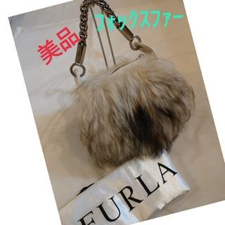 フルラ(Furla)の美品❗ FURLA フルラ ハンドバック リアル フォックス ファー(ハンドバッグ)