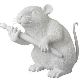 メディコムトイ(MEDICOM TOY)のsync . LOVE RAT white ver. 国内正規品 banksy(彫刻/オブジェ)