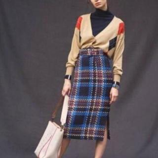 ミラオーウェン(Mila Owen)のMila owen ツイードチェックベルト付きタイトスカート(ロングスカート)