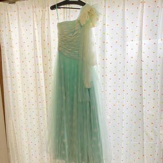 エメ(AIMER)のAimer♡ブルー ロングドレス  ウエディング(ウェディングドレス)