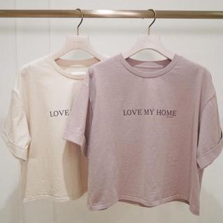 スナイデル(snidel)の最終お値下げ✴︎Her lip to LOVE MY HOME T(Tシャツ(半袖/袖なし))