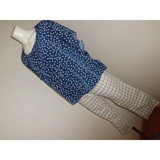 アズノウアズ(AS KNOW AS)の15号17号ゆったりサイズ大きいサイズ美品アズノウアズカットソーと3Lパンツ(Tシャツ(半袖/袖なし))
