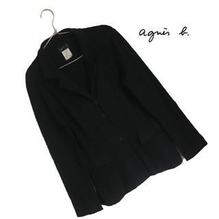 アニエスベー(agnes b.)のagnes b コットン100% ストレッチ シングルブレスト ジャケット(テーラードジャケット)