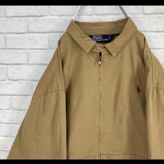 ラルフローレン(Ralph Lauren)のラルフローレン スウィングトップ ブルゾン ブラウン 赤ポニー L 90s(ブルゾン)