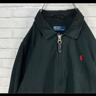 ラルフローレン(Ralph Lauren)のラルフローレン スウィングトップ ブルゾン ブラック 赤ポニー 90s(ブルゾン)