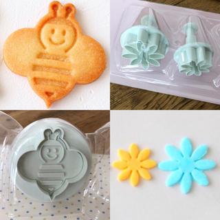 クッキー型3点セット(花とミツバチ)(調理道具/製菓道具)