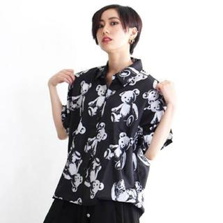 ファンキーフルーツ(FUNKY FRUIT)のDrugHoney ドラッグハニー スケルトンテディ 半袖シャツ ブラック(シャツ/ブラウス(半袖/袖なし))