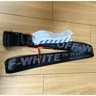 OFF-WHITE - 大人気OFF-WHITE ブラック ベルト 約200CM