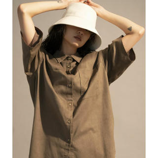 アメリヴィンテージ(Ameri VINTAGE)のコットンスエードハーフスリーブシャツ MAISON SPECIAL(シャツ/ブラウス(半袖/袖なし))