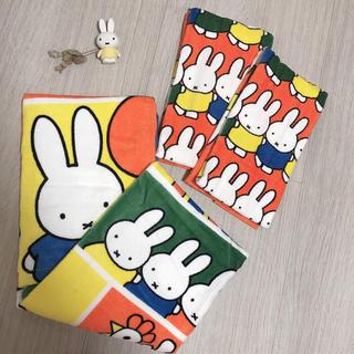 シマムラ(しまむら)の新品未使用 miffy ミッフィー バスタオル フェイスタオル 2点 セット売り(タオル/バス用品)