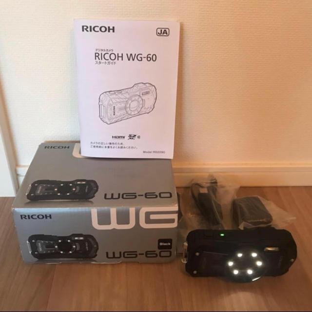 RICOH(リコー)の美品 RICOH WG-60 リコー ricoh 防水カメラ ブラック スマホ/家電/カメラのカメラ(コンパクトデジタルカメラ)の商品写真