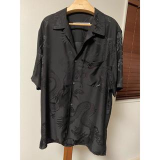 アレキサンダーワン(Alexander Wang)のAlexander Wang アレキサンダーワン 半袖 オープンカラーシャツ 黒(シャツ)