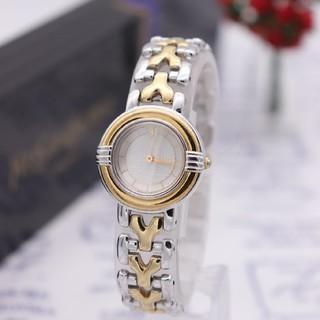 サンローラン(Saint Laurent)の正規品【動作品】YvesSaintLaurent/5430 ロゴブレス 動作品(腕時計)