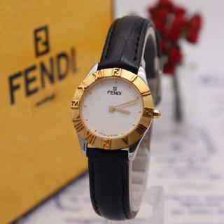 フェンディ(FENDI)の正規品【新品電池】FENDI 2000L/人気モデル ズッカ柄 ギョーシェ(腕時計)