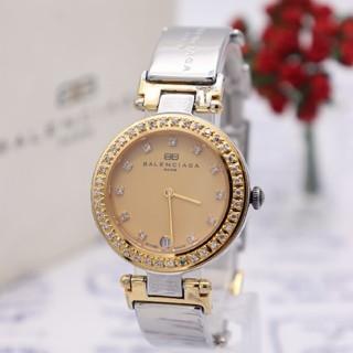バレンシアガ(Balenciaga)の正規品【新品電池】BALENCIAGA PARIS/ストーンベゼル コンビ 動品(腕時計(アナログ))