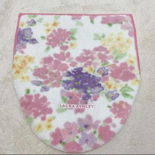 ローラアシュレイ(LAURA ASHLEY)のローラアシュレイ フタカバー 便座カバー ピンク 花柄(トイレマット)