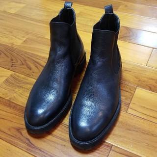 ナノユニバース(nano・universe)の【美品 イタリア製】ビブラムソール サイドゴアブーツ ショートブーツ(ブーツ)