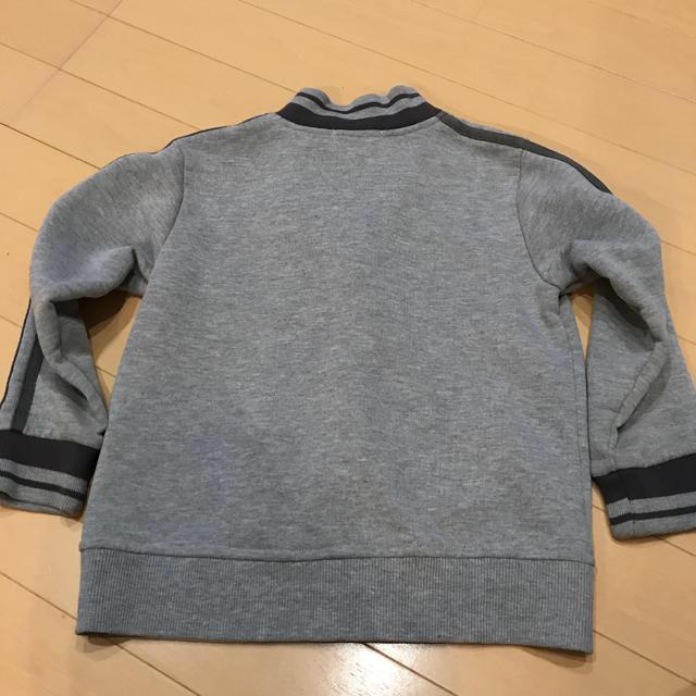 Acoba(アコバ)のトレーナー生地のファスナー式上着 110㎝ キッズ/ベビー/マタニティのキッズ服男の子用(90cm~)(ジャケット/上着)の商品写真