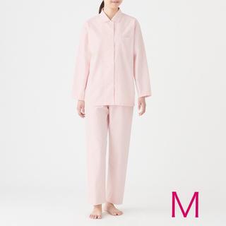 MUJI (無印良品) - 無印良品『脇に縫い目のないオックスフォードパジャマ(ピンク Mサイズ)』