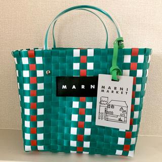 マルニ(Marni)の即日発送 マルニピクニックバック グリーン(かごバッグ/ストローバッグ)